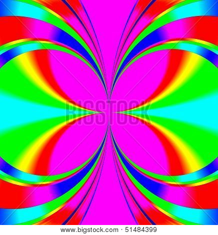 Background Decoration With Colorful Circles. Oviform Perspective.