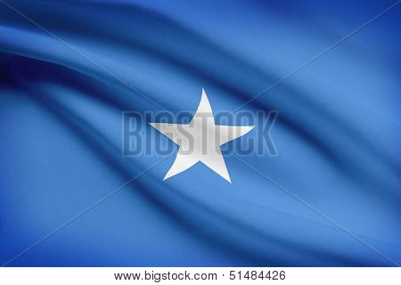 Series Of Ruffled Flags. Federal Republic Of Somalia.