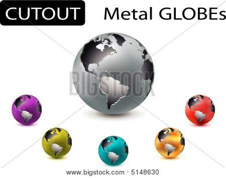 Metal Cutout Globes