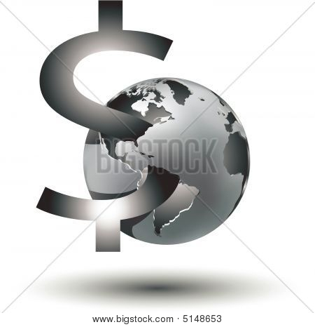 Global Money Business Sign