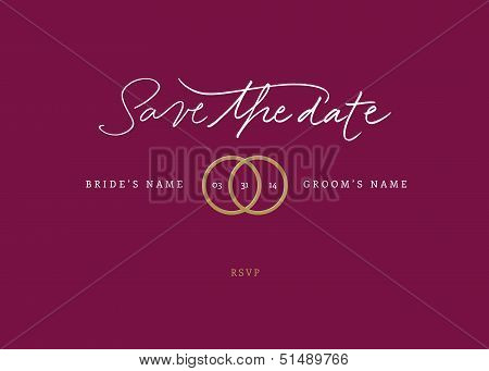 Handmade calligraphy Save the Date. Vector file. poster