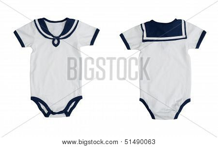 Front and Back of Sailor Suit