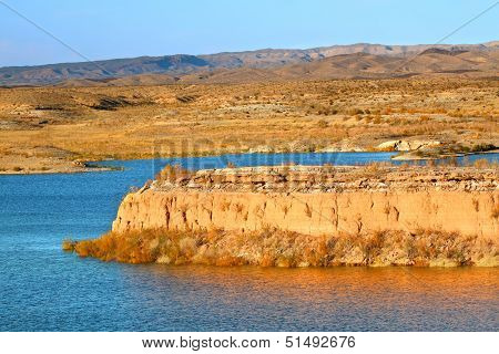 Shoreline of Lake Mead National Recreation Area east of Las Vegas Nevada. poster