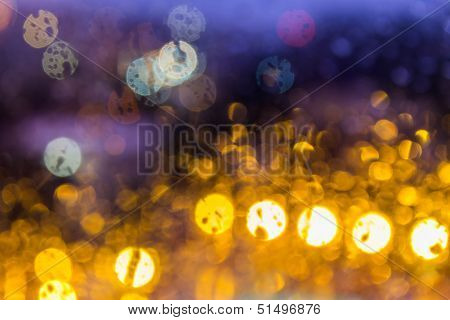 Abstract Background Light Of Color Cheese Blur