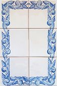Traditional square tiles from Porto in Portugal poster