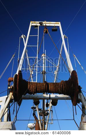 Winch On A Boat