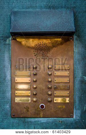 Vintage Brass Intercom Buzzer