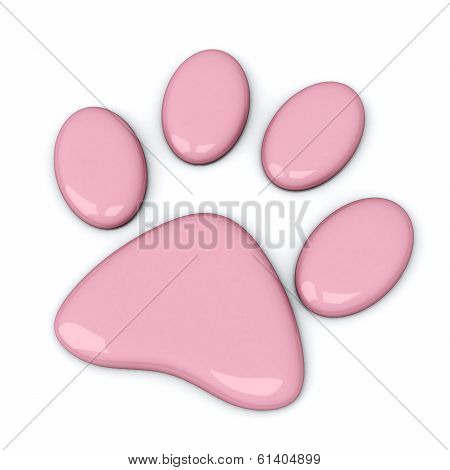 Pink paw, 3d