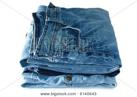 Stack Of Blue Jeans Outerwear.