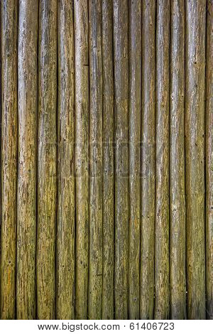 Embossed Texture Of Wooden Rounded Planks