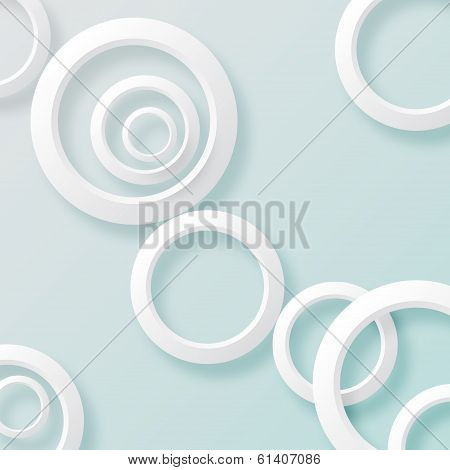 White paper circles background 2