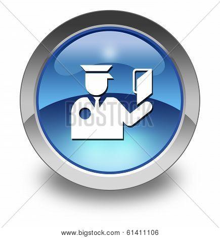 Icon, Button, Pictogram Immigration