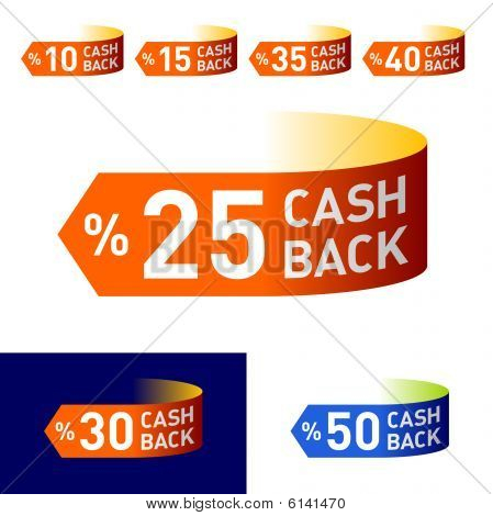 Cash-Back. Vector emblem.