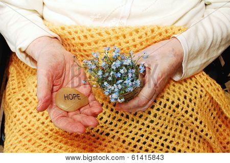 Hope And Forget-me-not Flowers