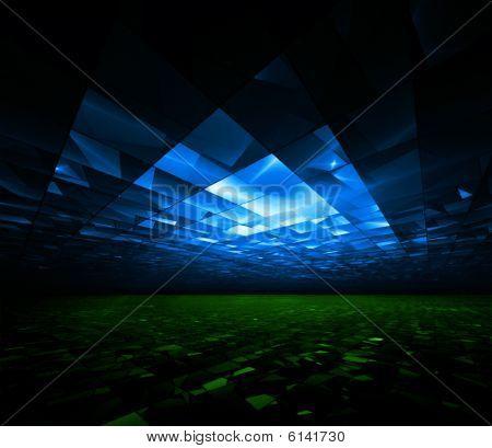Global Greenhouse - 3D fractal illustration