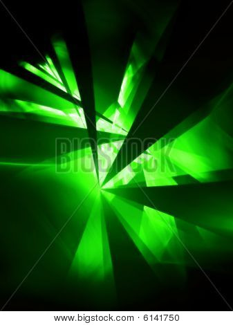 Glow Green Party - 3D fractal Illustration