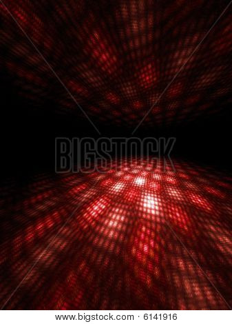 Red Moire Light Patterns