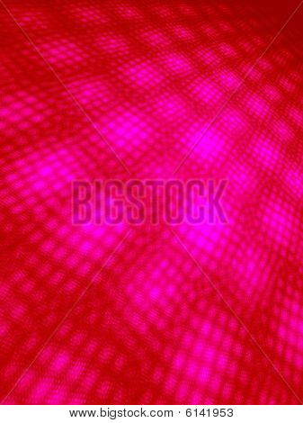 Hot Pink to Red on Black Moire 3D Landscape