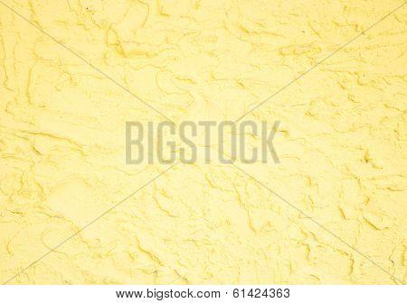Yellow Handmade Rough Surface Background