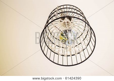 Crystal Chandelier Decorated In Vintage House