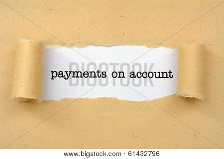 Payment On Account