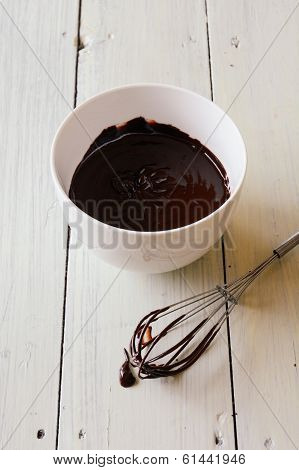 Chocolate-covered Whisk And Bowl
