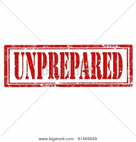Unprepared-stamp