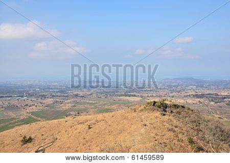 View From Saebyeol Volcanic Cone In Jeju Island