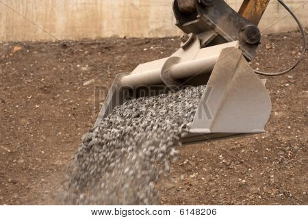 Dipper Working With Gravel
