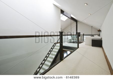 Staircase To Loft living room