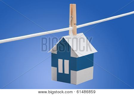 finland flag printed on paper house