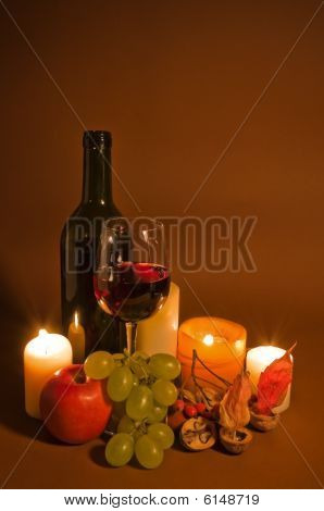 Red Wine And Fruits