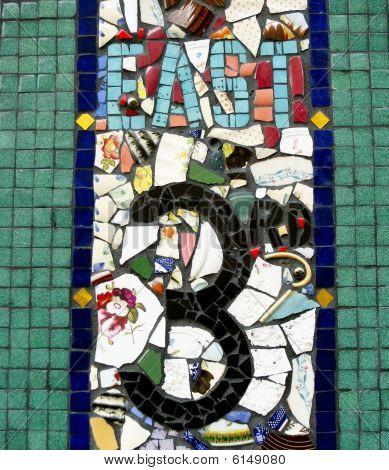 Mosaic Street Sign