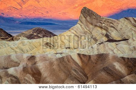 Zabriskie point sunrise Death Valley