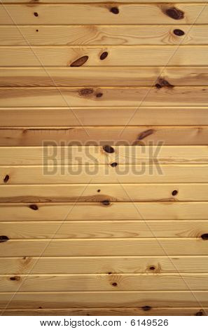 Horizontal Knotty Pine Boards