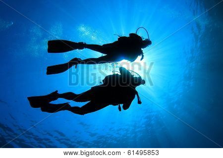 Scuba Diving couple