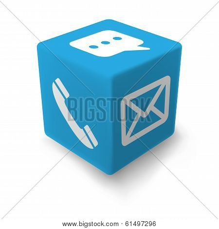 Blue Contact Cube