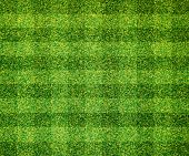 Artificial green grass background, soccer field background poster