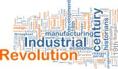 Word cloud concept illustration of industrial revolution poster