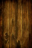 Dark Rich Wood grain texture background with knots and strong lines poster