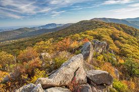 Mary's rock, shenandoah, in Autumn
