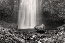 Multnomah Falls in Black and White