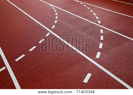 The running track