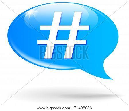 Hashtag Sign Illustration