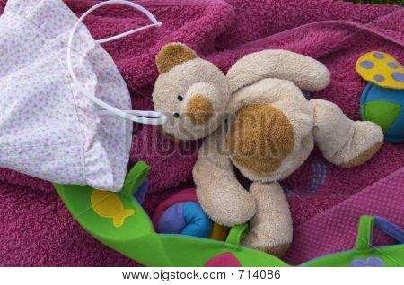 Teddy Bear And Infantile Bottom