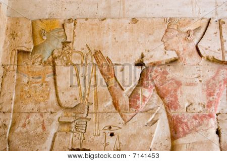 Ancient Egyptian God Ptah with Seti