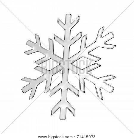 Gray Glass Snowflake