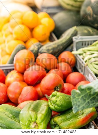 Fruits and vegetables at the greengrocers