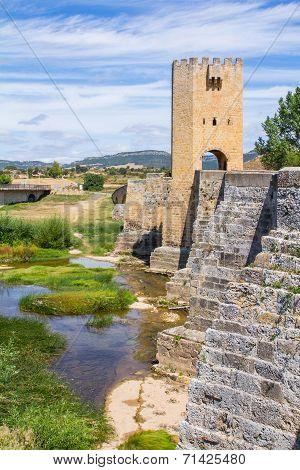 Medieval Bridge In Burgos