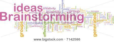 Brainstorming Word Cloud